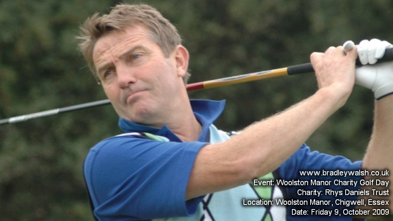 Bradley Walsh at Woolston Manor Charity Golf Day