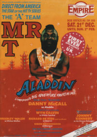 1991 Aladdin The Empire, Liverpool