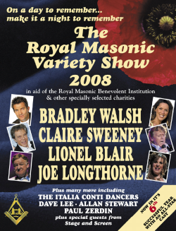 Royal Masonic Variety Show