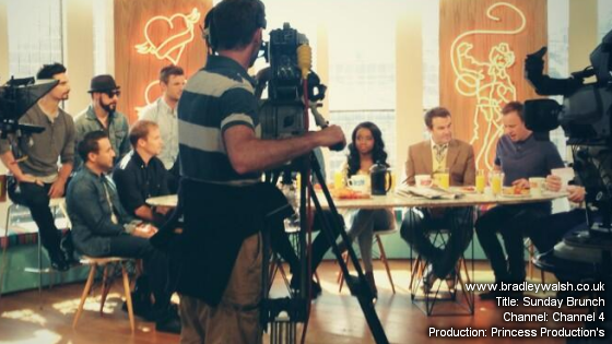 Behind the scenes with Bradley Walsh on Sunday Brunch