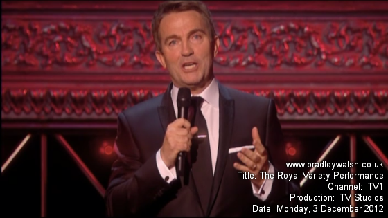 Bradley Walsh Royal Variety Performance 2012