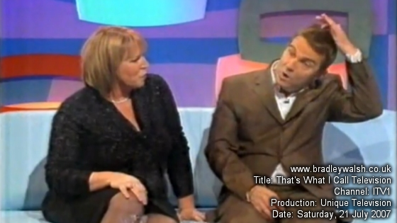 Bradley Walsh and Fern Britton on That's What I Call Television