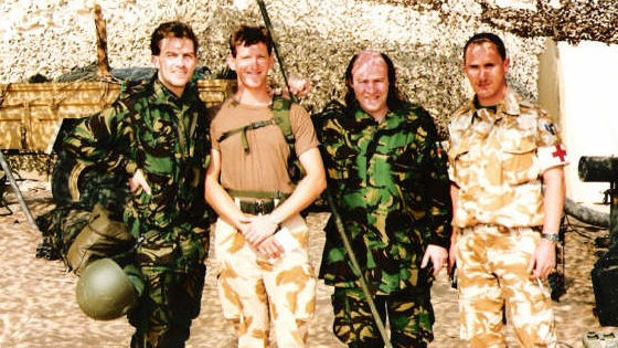 Bradley Walsh and Mick Miller entertain the troops