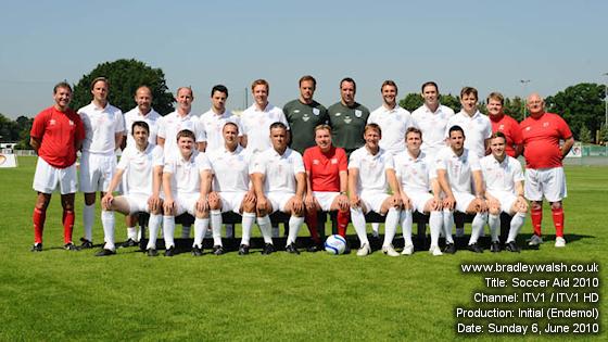 Soccer Aid 2010 Team