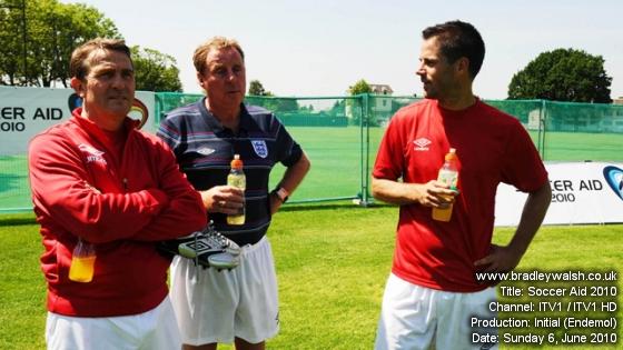 Soccer Aid 2010 Training